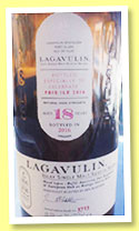 Lagavulin 18 yo (49.5%, OB, Bicentenary Edition, Feis Ile 2016, Refill Hogsheads & European Oak Bodega Sherry Butts, 6000 bottles)