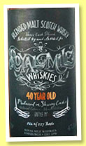 Royal Mile Whiskies 40 yo (47.1%, Royal Mile Whiskies, blended malt, 337 bottles, 2015)