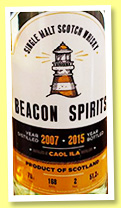 Caol Ila 2007/2015 (51.2%, Beacon Spirits, 168 bottles)