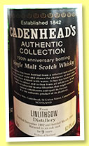Linlithgow 9 yo 1982/1992 (62.6%, Cadenhead, Authentic Collection, 150th Anniversary)