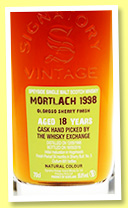 Mortlach 18 yo 1998/2016 (55.8%, Signatory Vintage for The Whisky Exchange, sherry finished hogshead, cask #5, 681 bottles)
