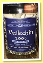 Ballechin 2005/2016 (56.7%, OB, for LMdW, Caroni rum finish, cask #906)