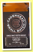 Caol Ila 34 yo 1982/2016 (60.1%, Cadenhead, Small Batch, 2016)