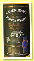 Ardbeg 23 yo 1993/2016 (47.7%, Cadenhead, Authentic Collection, bourbon hogshead, 210 bottles)