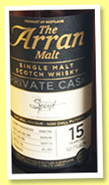 Arran 15 yo 2000/2015 (52.7%, OB for independentspirit.de, sherry hogshead, cask #2000/256, 307 bottles)