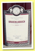 Bruichladdich 2003/2013 (56.3%, Malts of Scotland, cask #MoS 13051, 285 bottles)