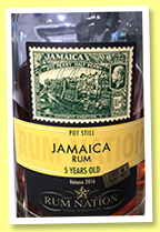 Jamaica 5 yo (50%, Rum Nation, sherry finish, Release 2016)