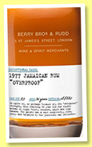 Jamaican Rum 36 yo 1977 (60.3%, Berry Bros & Rudd, Exceptional Casks, cask #23, 220 bottles, +/-2014)