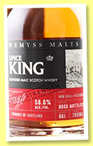 Spice King 'Batch Strength' (56%, Wemyss Malts, batch #1, blended malt, 6000 bottles, 2016)