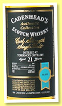 Tobermory 21 yo 1995/2016 (53.8%, Cadenhead, Authentic Collection, 246 bottles)