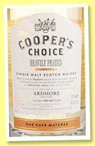 Ardmore 'Heavily Peated' (46%, The Cooper's Choice, cask #884, 480 bottles, +/-2016)