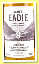 Auchroisk 9 yo (46%, James Eadie, 1st fill bourbon, cask #804015, 296 bottles, 2017)