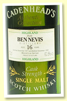Ben Nevis 16 yo 1977/1993 (60.8%, Cadenhead, Authentic Collection)