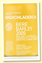 Bruichladdich 2009/2016 'Bere Barley' (50%, OB, 4th Edition, first fill bourbon)