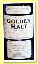 Golden Malt 1973/2014 (54.4%, Scottish Independent Distillers Co., for Taiwan, single malt, butt, cask #7989, 249 bottles)