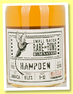 Hampden 1992/2016 (61.6%, Rum Nation, Jamaica, cask #1-12, 504 bottles)