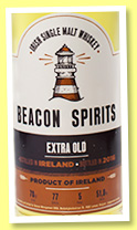 Irish Single Malt 'Extra Old' (51.8%, Beacon Spirits, 2016)