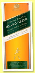 Johnnie Walker 'Island Green' (43%, OB, blended malt, travel retail, 2016)
