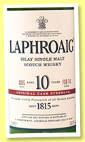 Laphroaig 10 yo 'Original Cask Strength Batch 6' (58%, OB, 2014)