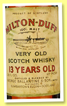 Milton-duff 13 yo (85° proof, OB, George Ballantine & Son, 1950s)