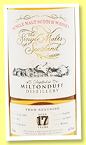 Miltonduff 17 yo 1999/2016 (54.8%, The Single Malts of Scotland, hogshead, cask #5012, 243 bottles)