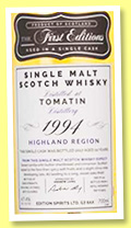 Tomatin 22 yo 1994/2017 (47.4%, Hunter Laing, The First Editions, cask # 13275, 274 bottles)