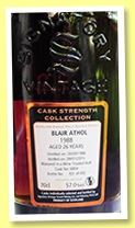 Blair Athol 26 yo 1988/2015 (57%, Signatory Vintage, wine treated butt, casks #6804, 492 bottles)