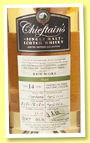 Bowmore 14 yo 2002/2016 (46%, Chieftain's, hogsheads, casks # 815801-815810, 3615 bottles)