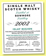 Bowmore 14 yo 2002/2017 (56.6%, Hunter Laing, The First Editions, hogshead, cask #HL13390, 263 bottles)