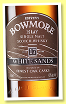 Bowmore 17 yo 'White Sands' (43%, OB, +/-2017)