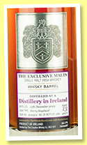 Distillery in Ireland 13 yo 2003/2017 (52.7%, Exclusive Malts and The Whisky Barrel, sherry hogshead, cask #200501, 180 bottles)