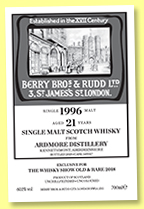 Ardmore 1997/2018 (60.1%, Berry Brothers & Rudd for The Whisky Show: Old & Rare, #149017)