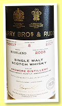 Ardmore 8 yo 2008/2017 (54.5%, Berry Brothers & Rudd, #708607)