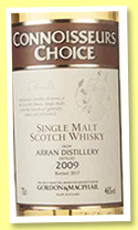 Arran 2009/2017 (46%, Gordon & MacPhail, Connoisseurs Choice)