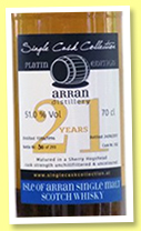 Arran 21 yo 1996/2017 (51%, Single Cask Collection, sherry hogshead, 293 bottles)