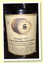 Braes of Glenlivet 19 yo 1979/1999 (58.1%, Signatory Vintage, sherry butt, cask #9294, 658 bottles)