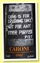 Caroni 24 yo 1982/2006 'light' (55.2%, Velier, Trinidad, 820 bottles)