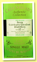 Coleburn-Glenlivet 17 yo 1978/1995 (62%, Cadenhead, Authentic Collection)