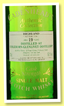 Coleburn-Glenlivet 19 yo 1978/1998 (59.1%, Cadenhead, Authentic Collection)