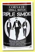 Corsair 'Triple Smoke' (40%, OB, American malt, +/-2017)