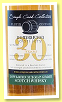 Dumbarton 30 yo 1987/2017 (52.1%, Single Cask Collection)
