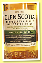 Glen Scotia 1991/2017 (56.5%, OB, for Edinburgh Airport and World Duty Free, cask #857, 204 bottles)