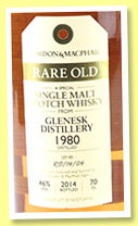 Glenesk 1980/2014 (46%, Gordon & MacPhail, Rare Old, batch #R0/14/04)