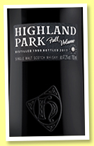 Highland Park 1999/2017 'Full Volume' (47.2%, OB, bourbon)