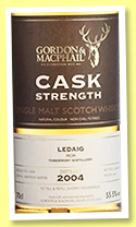 Ledaig 2004/2017 (55.5%, Gordon & MacPhail, Cask Strength, sherry, first fill and refill sherry hogsheads, casks # 16600503-16600506)Ledaig 2004/2017 (55.5%, Gordon & MacPhail, Cask Strength, sherry, first fill and refill sherry hogsheads, casks # 16600503-16600506)