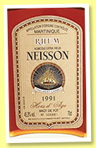 Neisson 1991 'Hors d'Âge' (45.3%, OB, Martinique, agricole, decanter, bottled ?)