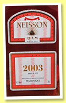 Neisson 2003/2012 (43.1%, OB, Martinique, agricole, 207 bottles)
