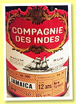 New Yarmouth 12 yo 2005/2017 (55%, Compagnie des Indes, Jamaica, cask #JNY17, 319 bottles)