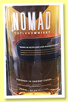 Nomad Outland Whisky (41.3%, OB, Gonzalez Byass, blended whisky, +/-2017)