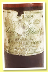 Smith & Hoey 21 yo (no ABV, OB, Liqueur Old Scotch Whisky, sold or bottled 1905)